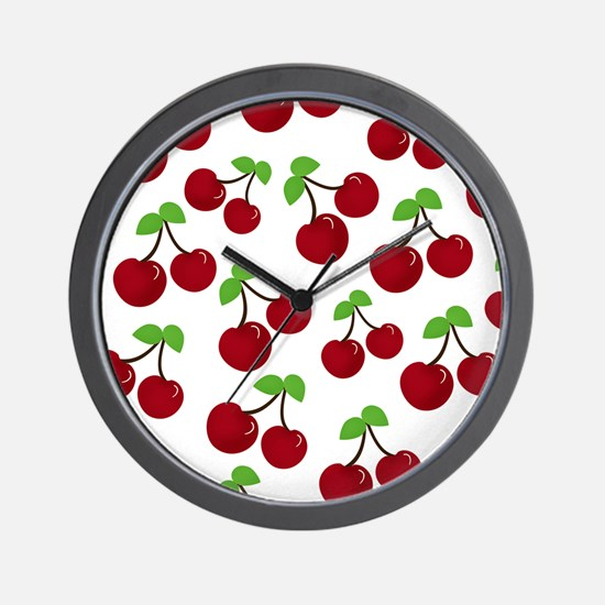 Cherries Wall Clock