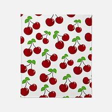 Cherries Throw Blanket