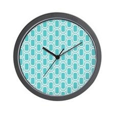 Retro Aqua Wall Clock