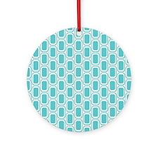 Retro Aqua Round Ornament