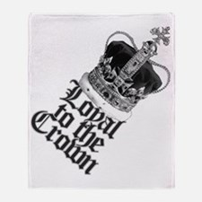 Loyal to the British Crown Throw Blanket