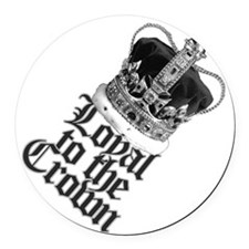 Loyal to the British Crown Round Car Magnet