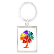 Different, not less! Portrait Keychain
