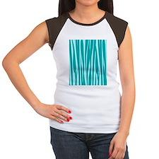 Chic Teal Women's Cap Sleeve T-Shirt
