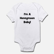I'm A Honeymoon Baby! - Black Infant Bodysuit