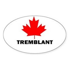 Tremblant, Quebec Oval Decal