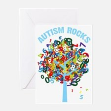 Autism Rocks Greeting Card