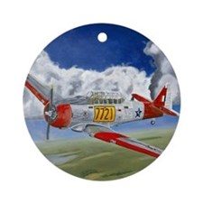 T-6 Texan Ornament (Round)