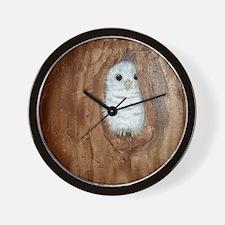 StephanieAM Baby Owl Wall Clock