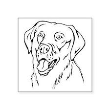 """Labrador Square Sticker 3"""" x 3"""""""