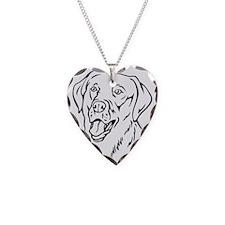 Labrador Necklace Heart Charm