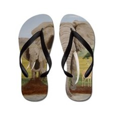 StephanieAM Elephant Flip Flops