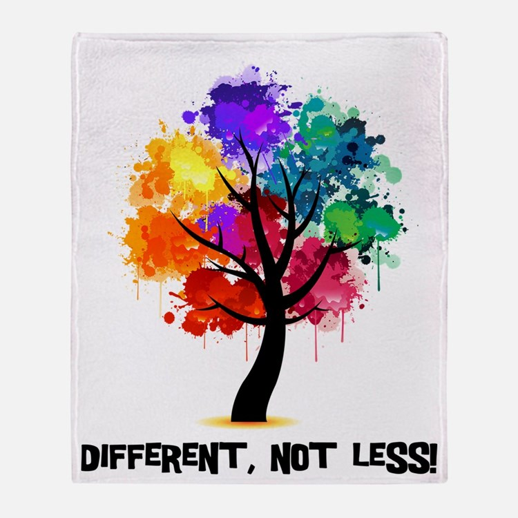 Different, not less! Throw Blanket