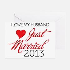 I love My husband 2013 Greeting Card