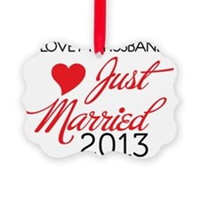 I love My husband 2013 Ornament