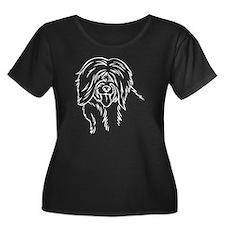 TibetanT Women's Plus Size Dark Scoop Neck T-Shirt