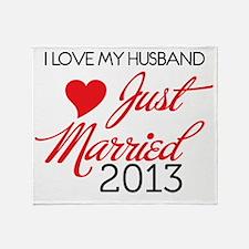 I love My husband 2013 Throw Blanket