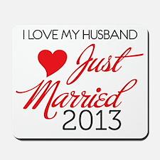 I love My husband 2013 Mousepad