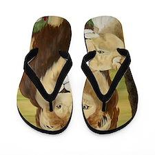 StephanieAM Lion Flip Flops