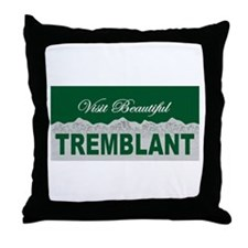 Visit Beautiful Tremblant, Qu Throw Pillow