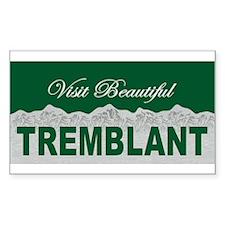 Visit Beautiful Tremblant, Qu Sticker (Rectangular