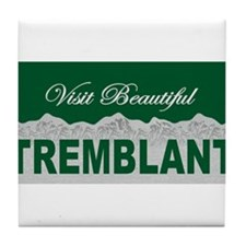 Visit Beautiful Tremblant, Qu Tile Coaster