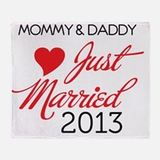 Just Married 2013 Mom and Dad Throw Blanket