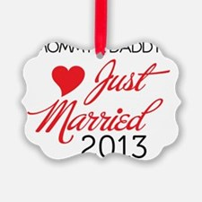 Just Married 2013 Mom and Dad Ornament