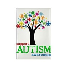 Support Autism Rectangle Magnet