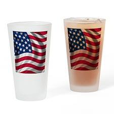 USA Flag Drinking Glass