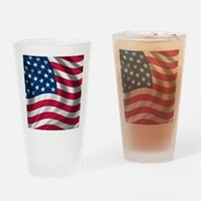 USA Flag Drinking Glass