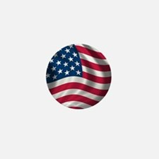 USA Flag Mini Button