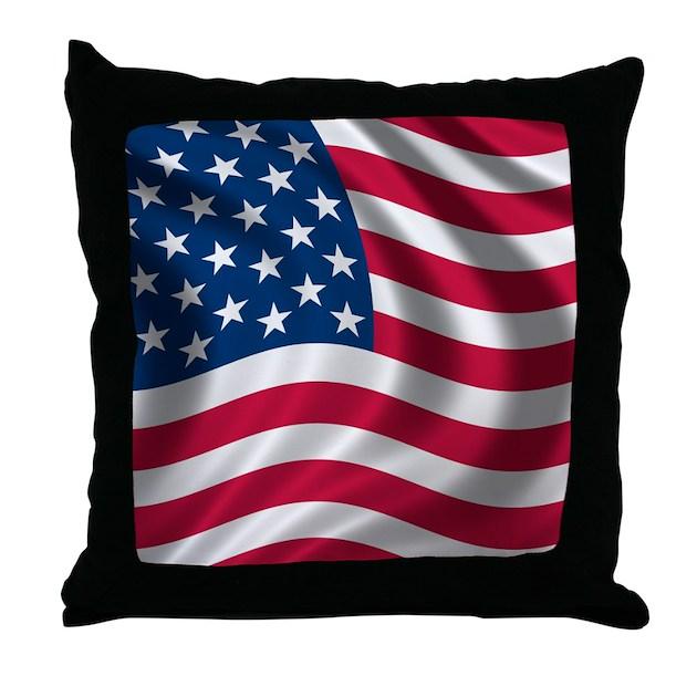 USA Flag Throw Pillow by Admin_CP2790320