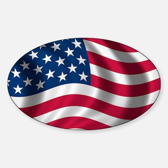 USA Flag Sticker (Oval)