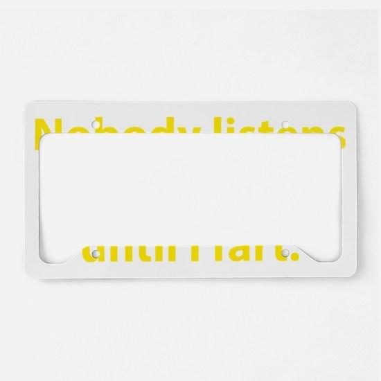 listensFart1D License Plate Holder