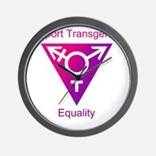 Transgender Equality Wall Clock