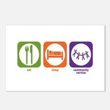 Eat Sleep Community Service Postcards (Package of