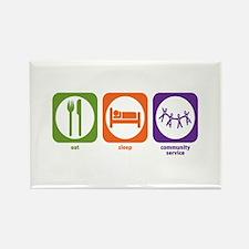 Eat Sleep Community Service Rectangle Magnet (100