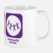 Eat Sleep Community Service Mug