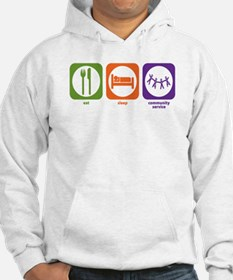 Eat Sleep Community Service Hoodie