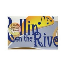 Rollin On The River Concert Logo- Rectangle Magnet