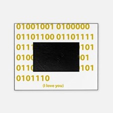I LOVE YOU in Binary Code Picture Frame