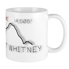 Mt Whitney Elevation Logo Small Mug