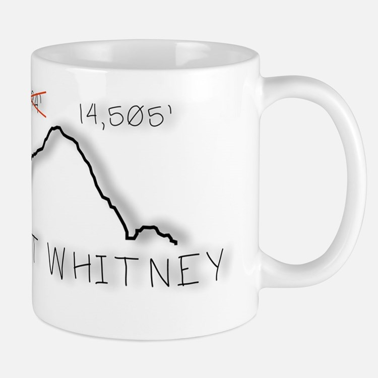 Mt Whitney Elevation Logo Small Small Mug