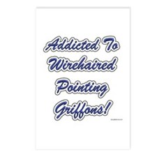 Wirehaired Addicted Postcards (Package of 8)