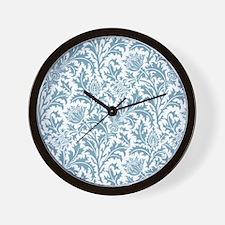 William Morris Pastel Green Thistle Pat Wall Clock