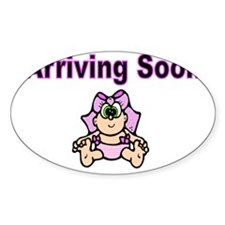 Arriving Soon-pink Decal