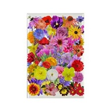 Eileens multifloral A3 Rectangle Magnet