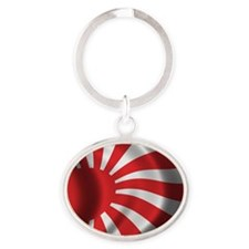 Japan Naval Flag Oval Keychain