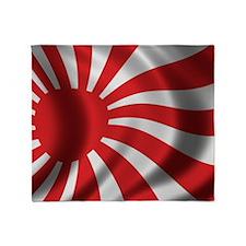 Japan Naval Flag Throw Blanket